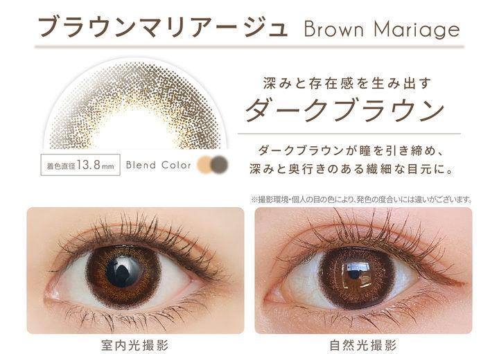 ブラウンマリアージュの瞳